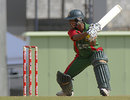 Mohammad Ashraful cuts during his fifty, West Indies v Bangladesh, 2nd ODI, Dominica, July 28, 2009
