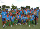 The Bangladesh squad poses with the trophy