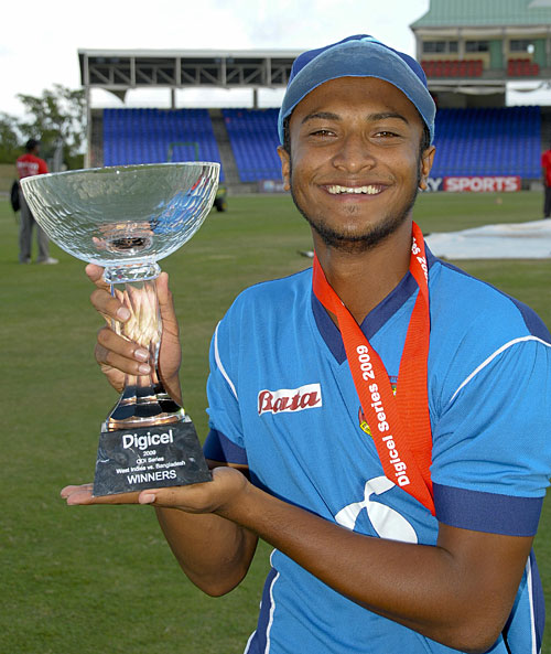 Shakib Al Hasan led Bangladesh to ODI and Test series victories in 2009