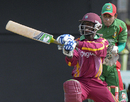 Devon Smith in an aggressive mood, West Indies v Bangladesh, Only Twenty20 international, St Kitts, August 2, 2009