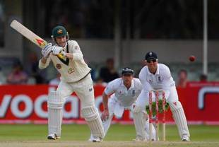 Michael Clarke's century eased Australia through the day, England v Australia, 3rd Test, Edgbaston, 5th day, August 3, 2009