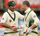 Ricky Ponting congratulates Michael Clarke after the draw, England v Australia, 3rd Test, Edgbaston, 5th day, August 3, 2009