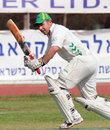 South African Adam Bacher on his way to 83* in Maccabiah Final