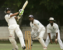 Jeetan Patel goes on the attack, SLC Development XI v New Zealanders, tour match, Colombo, 3rd day, August 9, 2009