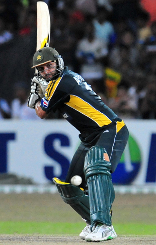 Shahid Afridi looks for maximum, Sri Lanka v Pakistan, only Twenty20 international, Colombo, August 12, 2009