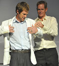 Jonty Rhodes and Shaun Pollock unveil the Champions Trophy jacket