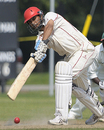 Abdool Samad drives en route to 87, Canada v Kenya, ICC Intercontinental Cup, 4th day, Toronto, August 17, 2009