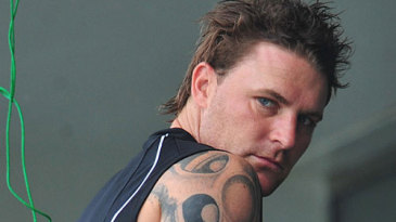 Brendon McCullum shows off his tattoo