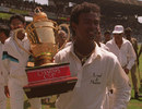 Vinod Kambli with the trophy