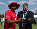 Khurram Chohan was the Man of the Match for taking 4 for 26, Canada v Kenya, 1st ODI, Toronto, August 19, 2009