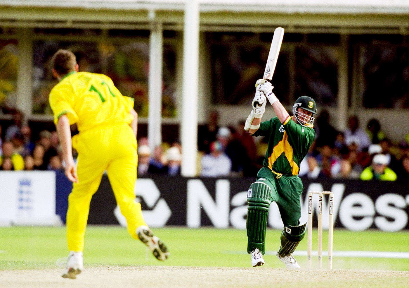Do or tie: Lance Klusener bludgeoned 31 off 14 balls only to trip up in the end in the unforgettable 1999 semi-final