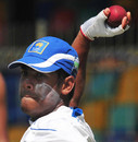 Malinda Warnapura at a fielding drill ahead of the second Test, SSC, Colombo, August 25, 2009
