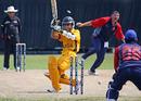 Halal Abbasi bowls Faris Almas for 25, Bahrain v Malaysia, ICC World Cricket League Division Six, Singapore, August 29, 2009