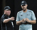 Selection meeting - Andy Moles and Daniel Vettori in discussion, Colombo, September 1, 2009