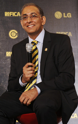 Haroon Lorgat address the media during the unveiling of the nominations for the 2009 ICC Awards, Mumbai, September 2, 2009