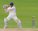 Shivnarine Chanderpaul cracks one hard off the back foot, Somerset v Durham, County Championship, Division One, September 2, 2009