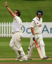 Steffan Jones celebrates the wicket of Rob Key, Derbyshire v Kent, Derby, September 2, 2009