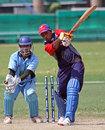 Bahrain's Adil Hanif is bowled for 24, Bahrain v Botswana, ICC World Cricket League Division 6, Singapore, September 2, 2009