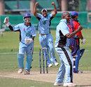 James Moses picked up 4 for 28, Bahrain v Botswana, ICC World Cricket League Division 6, Singapore, September 2, 2009