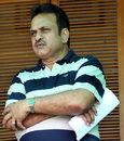 Yashpal Sharma watches the BCCI Corporate trophy match in Mohali