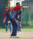 Fahad Sadeq appeals for a wicket, Bahrain v Norway, ICC World Cricket League Division 6, Singapore, September 4, 2009