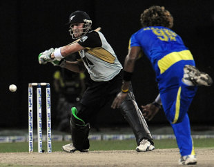 Brendon McCullum reaches out wide to slash, Sri Lanka v New Zealand, 2nd Twenty20, Colombo, September 4, 2009