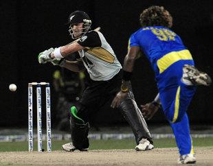 Brendon McCullum reaches out wide to slash, Sri Lanka v New Zealand, 2nd Twenty20, Colombo, September 4, 2009