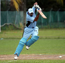 Shah Zaib Khan drives through covers, Botswana v Norway, ICC World Cricket League Division 6, Singapore, September 5, 2009