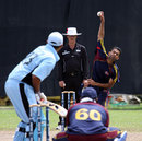 Norway's Shahbaz Butt bowls, Botswana v Norway, ICC World Cricket League Division 6, Singapore, September 5, 2009