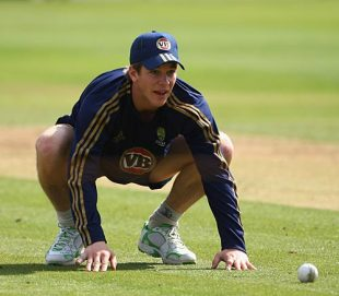 Tim Paine watches the ball during a practice session ahead of the second ODI against England, Lord's, September 5, 2009