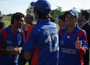 Ayoub Ahmadzai is congratulated after being named the Man of the Match, Afghanistan U-19s v Netherlands U-19s, ICC Under-19 World Cup Qualifier, King City, September 10, 2009