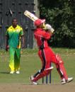 Usman Limbada goes for maximum, Canada U-19s v Vanuatu U-19s, ICC Under-19 World Cup Qualifier, King City, September 10, 2009