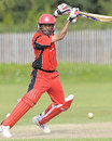 Darius D'Souza drives, Canada v USA, ICC Under-19 Cricket World Cup Qualifier, Toronto, September 11, 2009