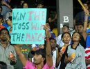 A fan shows how important he thinks the toss is at the R Premadasa Stadium, Sri Lanka v India, Compaq Cup, final, Colombo, September 14, 2009