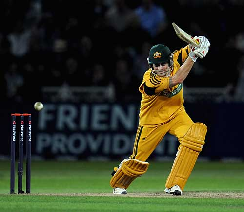 Michael Clarke showed some good touch during his half century, England v Australia, 5th ODI, Trent Bridge, September 15, 2009