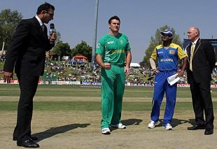 The rival captains get ready for the toss, South Africa v Sri Lanka, Champions Trophy, Group B, Centurion, September 22, 2009