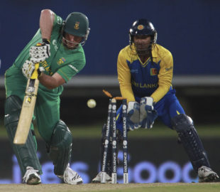 Graeme Smith's leg stump is knocked back, South Africa v Sri Lanka, Champions Trophy, Group B, Centurion, September 22, 2009