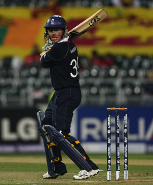 Eoin Morgan steers the ball towards third man, England v Sri Lanka, ICC Champions Trophy, Group B, Johannesburg, September 25, 2009