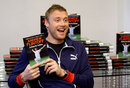 Andrew Flintoff with his new book <i>Ashes to Ashes</i>
