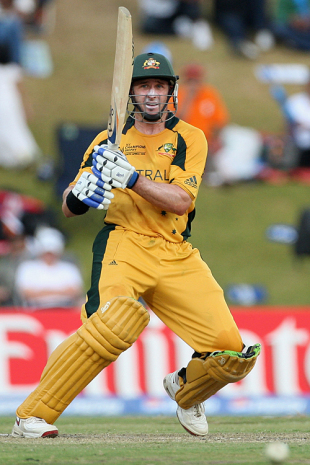 Michael Hussey picks up another boundary, Australia v India, ICC Champions Trophy, Group A, Centurion, September 28, 2009