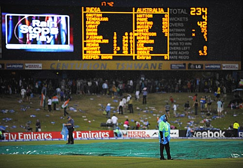 Rain played spoilsport in a crucial encounter