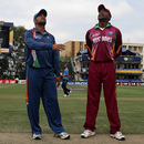 MS Dhoni and Floyd Reifer at the toss, India v West Indies, Champions Trophy, Group A, Johannesburg, September 30, 2009