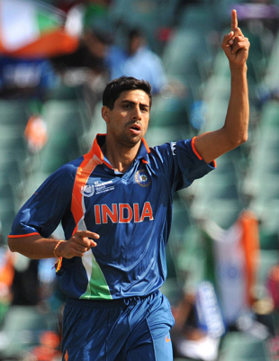 Ashish Nehra sends Darren Sammy on his way, India v West Indies, Champions Trophy, Group A, Johannesburg, September 30, 2009