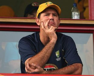 A grim Ricky Ponting watched as the wickets tumbled, Australia v Pakistan, ICC Champions Trophy, Group A, Centurion, September 30, 2009