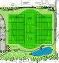 The design sketch for new cricket facilities in Indianapolis, September 15, 2009