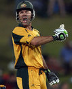 Ricky Ponting celebrates his hundred, Australia v England, 1st semi-final, ICC Champions Trophy, Centurion, October 2, 2009