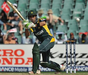 Imran Nazir plays through the leg side, New Zealand v Pakistan, ICC Champions Trophy, 2nd semi-final, Johannesburg, October 3, 2009