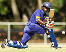 Rumesh Buddika sweeps during his 57, Australia Under-19s v Sri Lanka Under-19s, 2nd ODI, Darwin, October 4, 2009