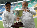 Virender Sehwag with the Irani Cup, Mumbai v Rest of India, Irani Cup, Nagpur, 5th day, October 5, 2009