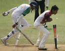Prashan Wickremasinghe takes the bails off in a flash, Nalanda College v St Benedict's College, Glucofit Cricket Sixes, Colombo, October 18, 2009